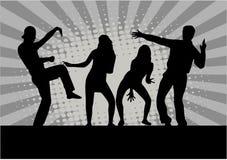 Illustration of people dancing stock illustration