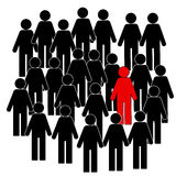 Illustration of people icons, think different, illustration royalty free illustration