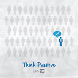 Illustration of people icons, think positive Stock Image