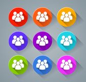 People icons with various colors. Illustration of people icons with various colors Stock Illustration