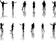 Illustration of people silhouettes Royalty Free Stock Photography