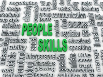 Illustration of people skills. 3d imagen, background concept wordcloud illustration of people skills Royalty Free Stock Images