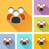 Peoples set icons. Illustration of peoples colorful design set icons Royalty Free Stock Photos