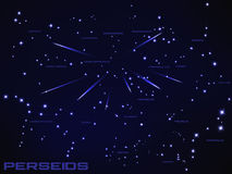 Illustration of perseids meteor shower Stock Photography