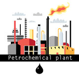 Illustration petrochemical plant Royalty Free Stock Images