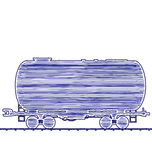 Illustration petroleum cistern wagon freight railroad train Royalty Free Stock Image