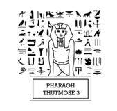 Illustration of Pharaoh Thutmose III Stock Images