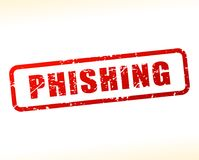 Phishing text buffered. Illustration of phishing text buffered on white background Royalty Free Stock Images