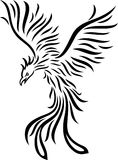 Phoenix tattoo isolated on white background. Illustration of Phoenix tattoo isolated on white background Stock Photo