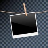 Illustration Photo frame on Rope isolated on transparent Royalty Free Stock Image