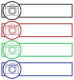 Camera banner set. Illustration of the photographic camera banner set Stock Images