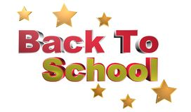 Back to school. An illustration of the phrase 'back to school' with stars on white background vector illustration