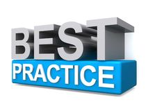 Best practice. An illustration of the phrase best practice royalty free illustration