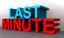 Last minute. An illustration of the phrase 'last minute stock illustration