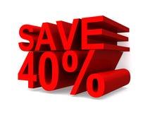 Save 40% royalty free illustration