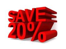 Save 20% stock illustration