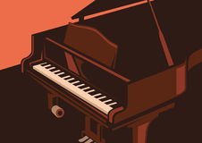 Illustration of piano. Royalty Free Stock Photo