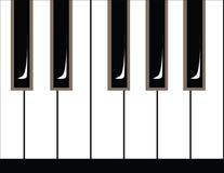 Illustration of piano keys stock image