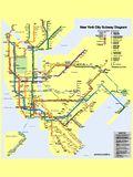 Illustration picture of a New York metro map vector illustration