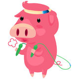Illustration pig. On white background Stock Photography