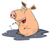 Illustration of a pig cartoon Stock Photography