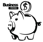 Illustration of piggy bank Royalty Free Stock Photography