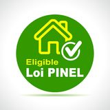 Pinel french law green icon. Illustration of pinel french law green icon Royalty Free Stock Photography
