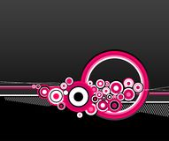 Illustration of pink circles. Vector Stock Photos