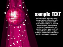 Illustration with pink disco ball Royalty Free Stock Photos