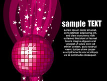 Illustration with pink disco ball.vector Stock Photo