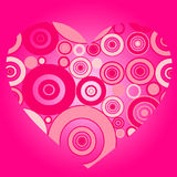 Illustration of pink heart Stock Photos