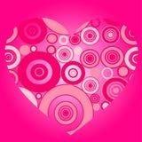 Illustration of pink heart Stock Photos