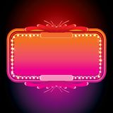 Illustration of Pink Retro Marquee. Vector Image Royalty Free Stock Photos