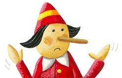 Illustration of Pinocchio says: I do not lie. Acrylic illustration of Pinocchio says: I do not lie royalty free illustration