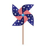 illustration of pinwheel with american symbolics. EPS Royalty Free Stock Photos