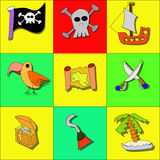 Illustration of pirate symbols Stock Image