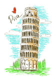 Illustration of Pisa tower Royalty Free Stock Photography