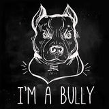 Illustration of Pit Bull Terrier with slogan. Stock Image
