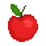 Illustration pixel an apple. For design Royalty Free Stock Photos