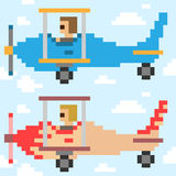 Illustration pixel art airplane Royalty Free Stock Photos