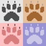 Illustration pixel art animal paw Stock Image