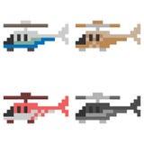 Illustration pixel art helicopter. Illustration vector isolate pixel art Stock Images