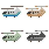 Illustration pixel art helicopter. Illustration vector isolate pixel art Stock Image