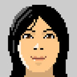 Illustration pixel art human face. Illustration vector pixel art design Stock Photos