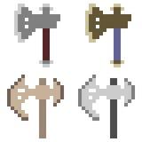 Illustration pixel art icon axe. Illustration vector isolate icon pixel art Royalty Free Illustration
