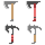 Illustration pixel art icon axe. Illustration vector isolate icon pixel art Vector Illustration