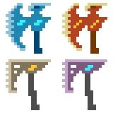 Illustration pixel art icon axe Royalty Free Stock Photos