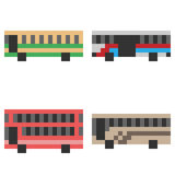 Illustration pixel art icon bus. Illustration vector isolate icon pixel art Royalty Free Illustration