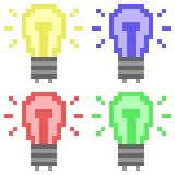Illustration pixel art icon flashlight. Illustration vector isolate icon pixel art Royalty Free Illustration