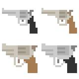 Illustration pixel art icon gun. Illustration vector isolate icon pixel art Vector Illustration